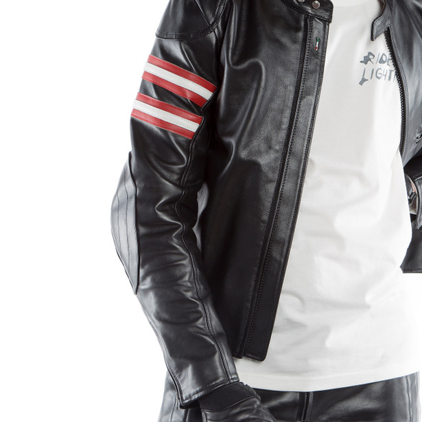 RAPIDA72 LEATHER JACKET BLACK- Motorbike