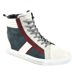 MABU SHOES QUING-GREY/QUING-WHITE/CINO-BURGUNDY- Schuhe