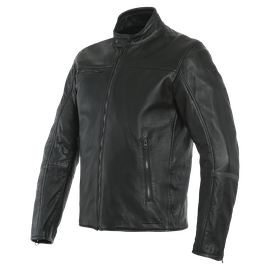 MARSHAL D72 LEATHER JACKET BLACK