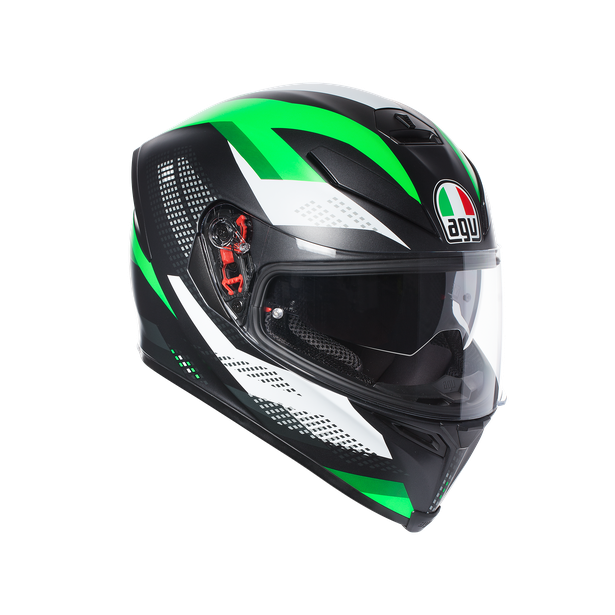 K-5 S AGV E2205 MULTI PLK - MARBLE MATT BLACK/WHITE/GREEN - undefined