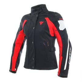 RAIN MASTER LADY D-DRY® JACKET BLACK/GLACIER-GRAY/RED- D-Dry®