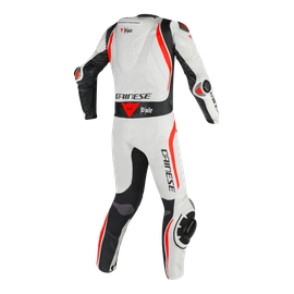 Mugello R D-air® BLACK/WHITE/FLUO-RED- Tute in pelle