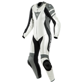 KILLALANE 1 PC PERF. LADY LEATHER SUIT PEARL-WHITE/CHARCOAL-GRAY/BLACK
