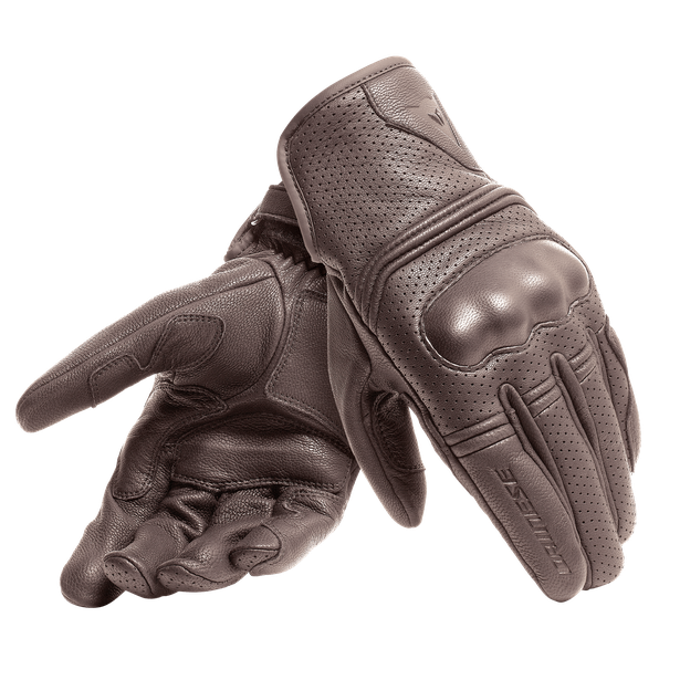 CORBIN AIR UNISEX GLOVES DARK-BROWN- Leather