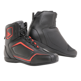 RAPTORS SHOES BLACK/BLACK/FLUO-RED- Textile