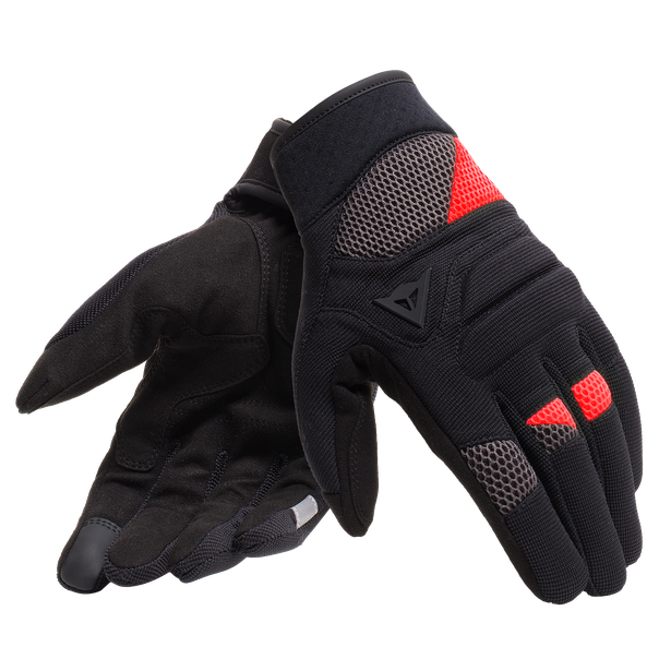 FOGAL UNISEX GLOVES BLACK/RED- Tessuto