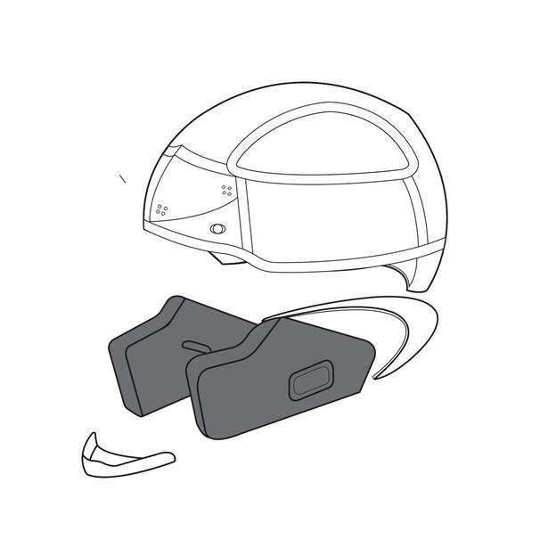 AGV CHEEK PADS K-3 (L) - Cheek Pads