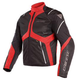 SAURIS D-DRY JACKET BLACK/TOUR-RED/LIGHT-GRAY