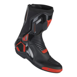 COURSE D1 OUT BOOTS BLACK/RED-FLUO- Cuir
