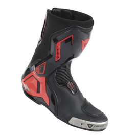 TORQUE D1 OUT BOOTS BLACK/FLUO-RED- Leather