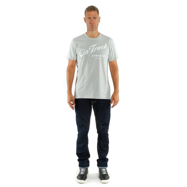 PADDOCK TRACK T-SHIRT GLACIER-GRAY/WHITE- Lifestyle