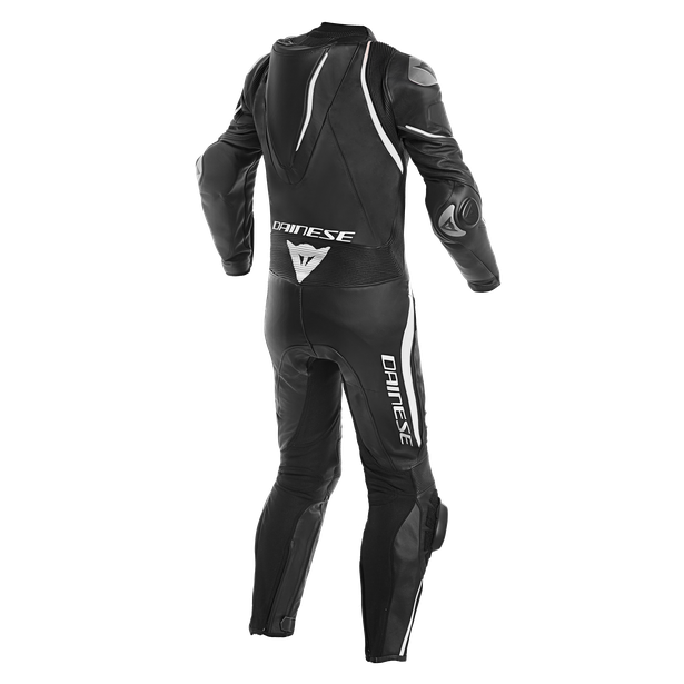 LAGUNA SECA 4 1PC LEATHER SUIT BLACK/BLACK/WHITE- One Piece Suits