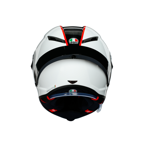 PISTA GP RR ECE DOT MULTI - SCUDERIA CARBON/WHITE/RED - Full-face