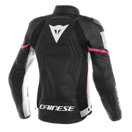 RACING 3 PERF. LADY LEATHER JACKET BLACK/WHITE/FUCHSIA- Cuir
