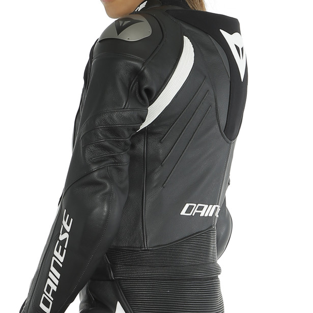 AVRO LADY D-AIR 2PCS SUIT BLACK/BLACK/WHITE- Motorbike fur sie