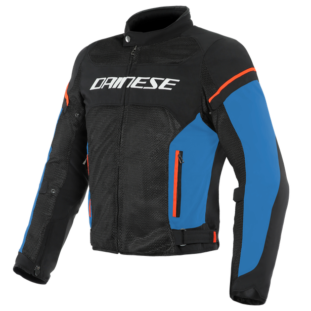 AIR FRAME D1 TEX JACKET BLACK/LIGHT-BLUE/FLUO-RED- Textil