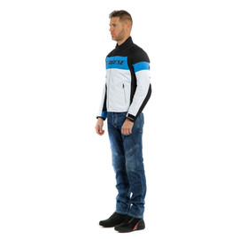 SAETTA D-DRY JACKET WHITE/PERFORMANCE-BLUE/BLACK- D-Dry®