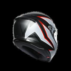 K6 E2205 MULTI - FLASH MATT BLACK/GREY/RED - K6