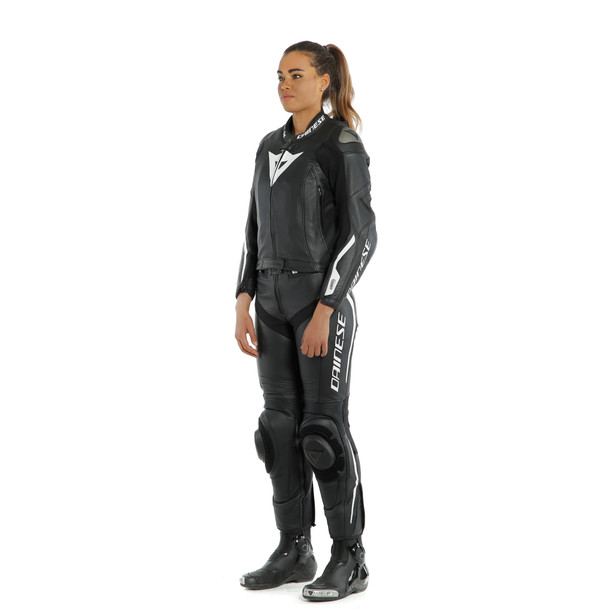 AVRO LADY D-AIR 2PCS SUIT BLACK/BLACK/WHITE- Moto para ella