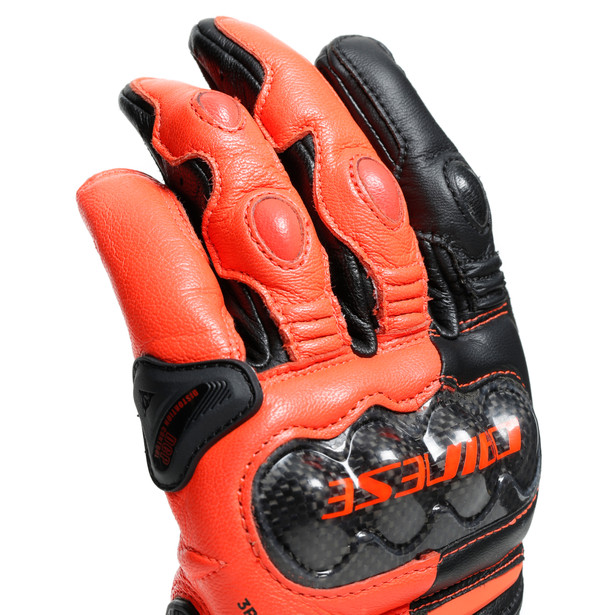 CARBON 3 SHORT GLOVES BLACK/FLUO-RED- Gloves