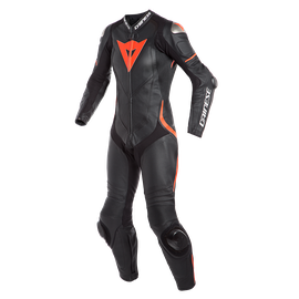 LAGUNA SECA 4 1PC PERF. LADY LEATHER SUIT BLACK/BLACK/FLUO-RED