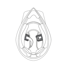 AGV CHIN STRAP PADS AX9 (XXS-XS)