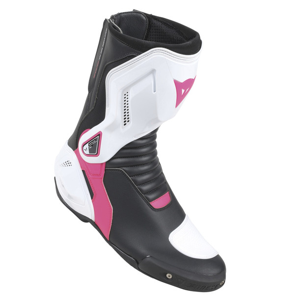 NEXUS LADY BOOTS BLACK/WHITE/FUCHSIA- Leder