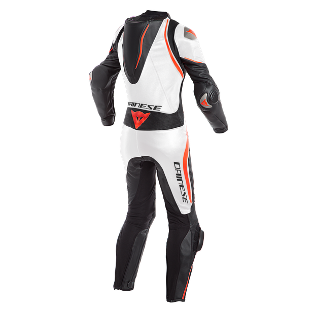 LAGUNA SECA 4 1PC PERF. LADY LEATHER SUIT BLACK/WHITE/FLUO-RED- Einteiler