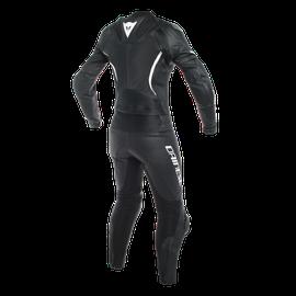 ASSEN 2 PCS LADY SUIT BLACK/BLACK/WHITE- Two Piece Suits
