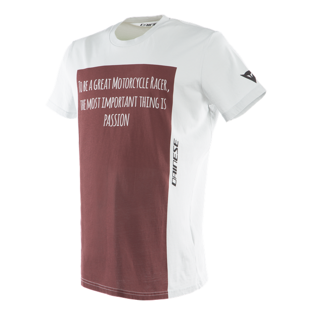 RACER-PASSION  T-SHIRT GRAY/BURGUNDY- Casual Wear