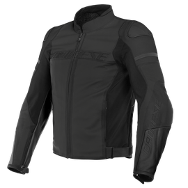 AGILE PERF. LEATHER JACKET BLACK-MATT/BLACK-MATT/BLACK-MATT- Jackets
