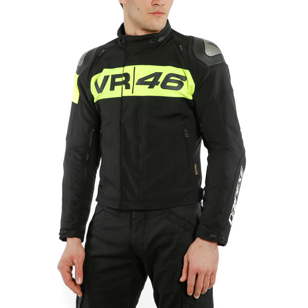 GIACCA D-DRY® VR46 PODIUM  BLACK/FLUO-YELLOW- VR46