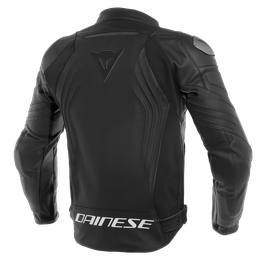 RACING 3 SHORT/TALL LEATHER  JACKET BLACK/BLACK/BLACK- Pelle