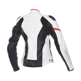 RACING D1 PELLE LADY WHITE/BLACK/FLUO-RED- Jackets