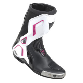 TORQUE D1 OUT LADY BOOTS BLACK/WHITE/FUCHSIA- Leather
