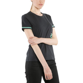 PADDOCK LADY T-SHIRT  BLACK/AQUA-GREEN- undefined