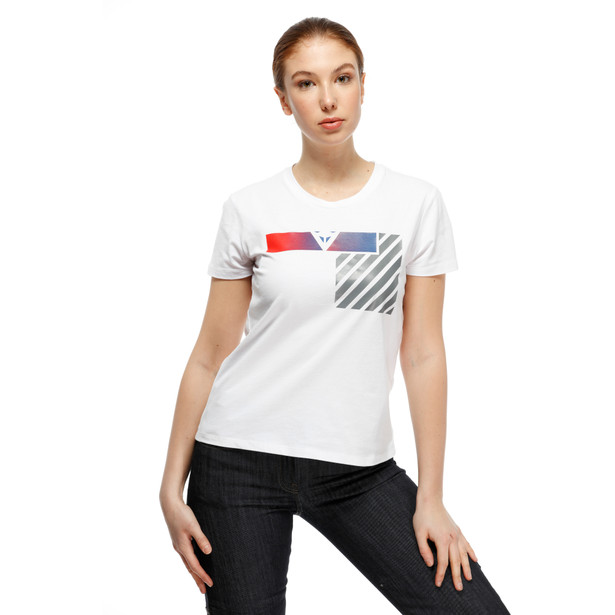 ILLUSION LADY T-SHIRT WHITE/DARK-GRAY/RED- Women Accessories