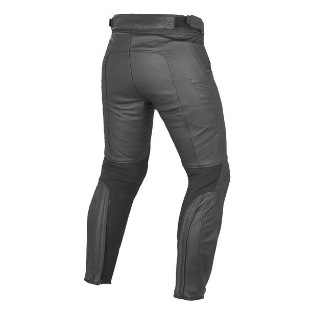 PONY C2 LEATHER PANTS BLACK- Hosen