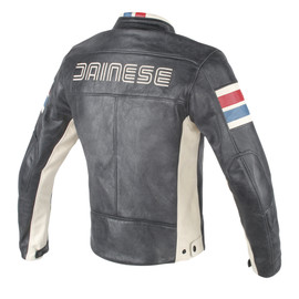 HF D1 LEATHER JACKET BLACK/ICE/RED/BLUE- Leather