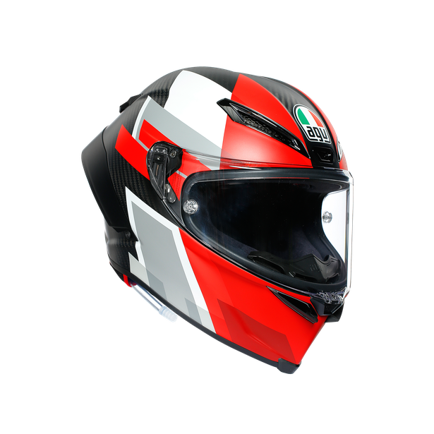 PISTA GP RR ECE DOT MULTI - COMPETIZIONE CARBON/WHITE/RED - Full-face