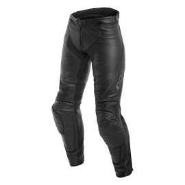 ASSEN LADY LEATHER PANTS BLACK/ANTHRACITE- Cuir
