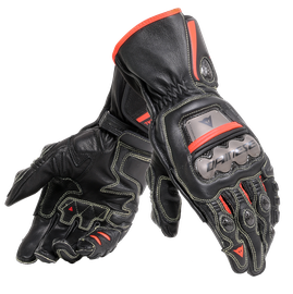 FULL METAL 6 GLOVES BLACK/BLACK/FLUO-RED- Leather