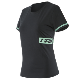 PADDOCK LADY T-SHIRT  BLACK/AQUA-GREEN