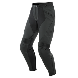 PONY 3 PERFORATED LEATHER PANTS BLACK-MATT