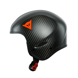 GT CARBON WC HELMET CARBON-MATT/RED-LOGO- Casques