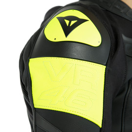 GIACCA IN PELLE VR46 VICTORY  BLACK/FLUO-YELLOW- VR46