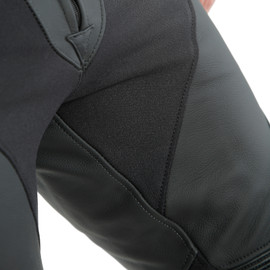 PONY 3 LEATHER PANTS BLACK-MATT- Pelle