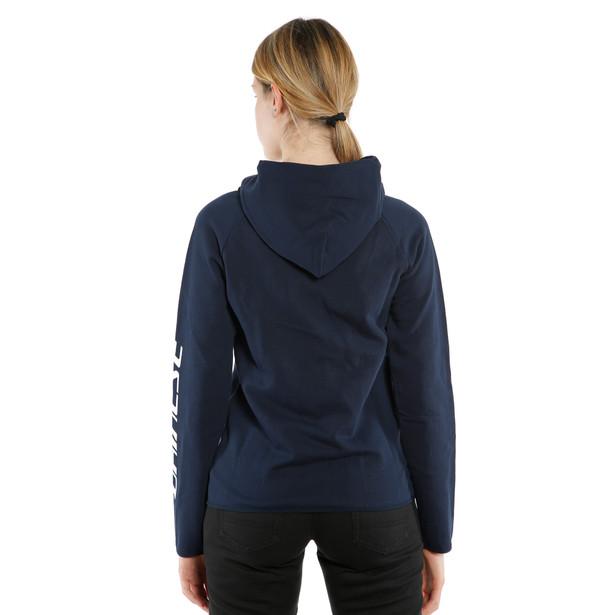 PADDOCK LADY FULL-ZIP HOODIE  BLACK-IRIS/WHITE- Women Accessories