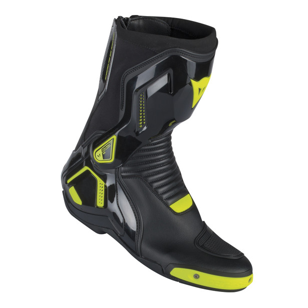 COURSE D1 OUT BOOTS BLACK/YELLOW-FLUO- Cuir