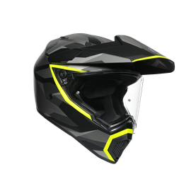 AX9 MULTI E2205 - SIBERIA MATT BLACK/YELLOW FLUO